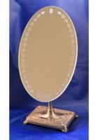 Зеркало настольное овальное на резной подставке