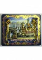 Символы Санкт-Петербурга, магнит объёмное изображение